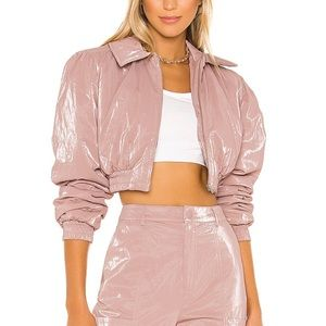 REVOLVE H:OURS Lilium puffer jacket in blush